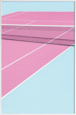 Pink Court - Net - Poster in kunststof lijst