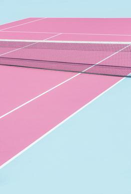 Pink Court - Net acrylglas print