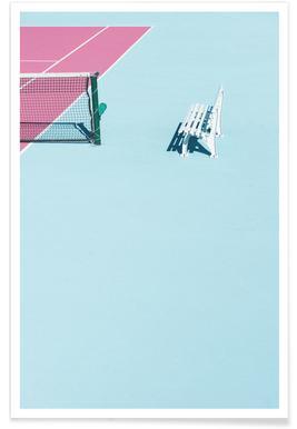 Pink Court - Bench - Premium poster