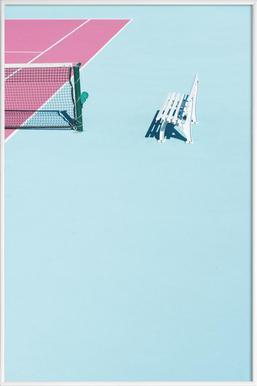 Pink Court - Bench - Poster in kunststof lijst