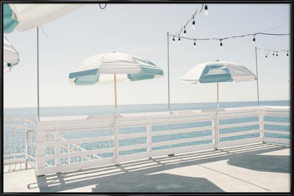 Blue Malibu -Bild mit Kunststoffrahmen
