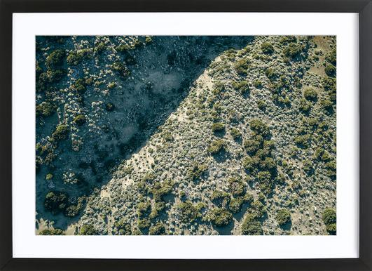 Teide Green Framed Print
