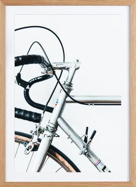 Le Super Bike - Affiche sous cadre en bois