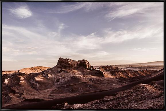 Valle de la Luna Hill -Bild mit Kunststoffrahmen