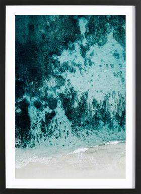 Beach Patterns Framed Print
