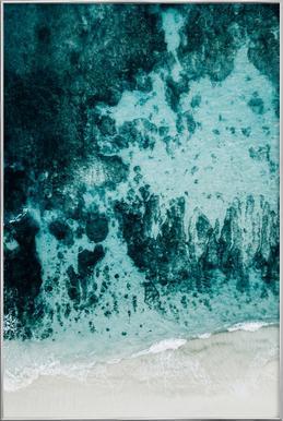 Beach Patterns Poster in Aluminium Frame