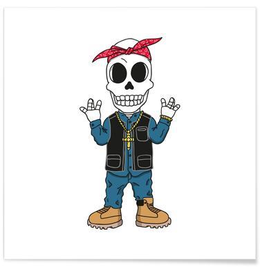 West Coast Skull -Poster