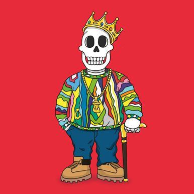 Biggie Skull toile