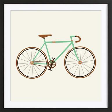 Green Fixie Framed Print