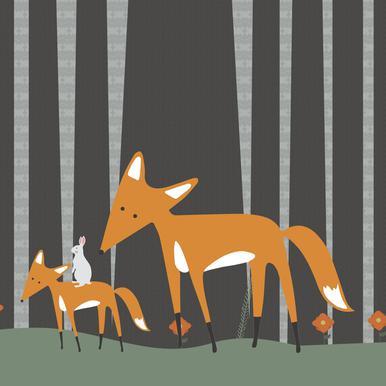 In The Woods -Leinwandbild