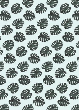 Monstera Pattern -Leinwandbild