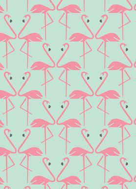 Pink Flamingos -Leinwandbild
