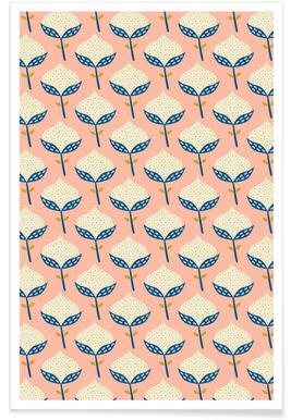 Scandinavian Flower Pattern - Poster