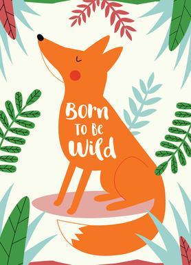 Born to Be Wild Fox Canvas Print