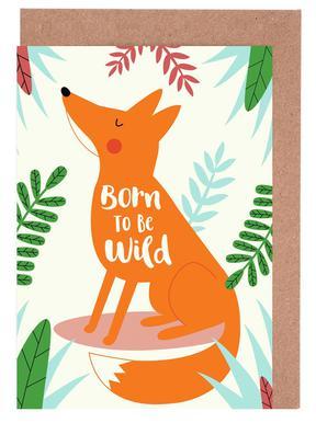 Born to Be Wild Fox -Grußkarten-Set