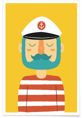 Ahoy Sailor - Premium Poster