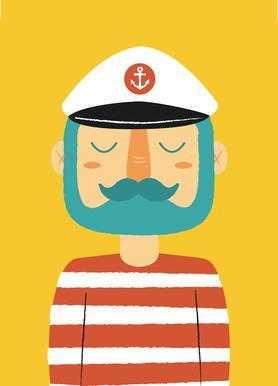 Ahoy Sailor -Leinwandbild
