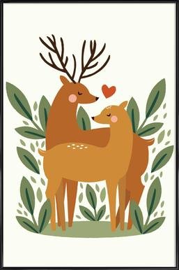 Deer Love Framed Poster