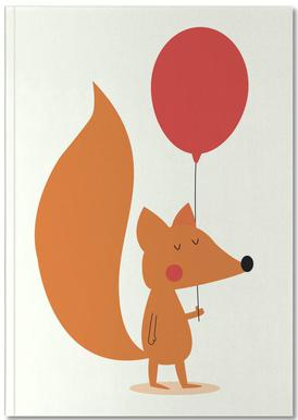 Fox with a Red Balloon Notebook
