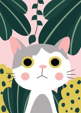 Jungle Cat -Leinwandbild