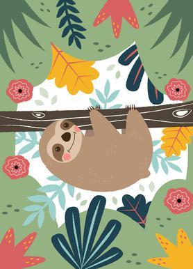 Sloth -Leinwandbild