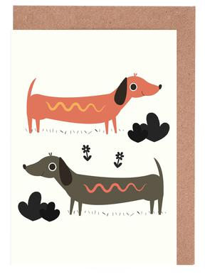 Wiener Dogs Greeting Card Set