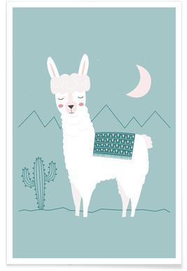 Alpaca In The Mountains Plakat