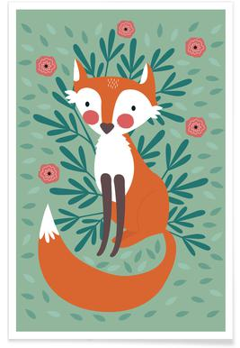 Fox In The Woods Poster