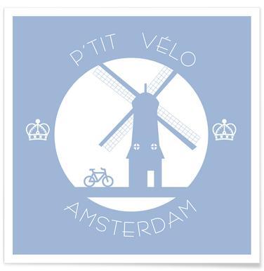 Amsterdam bleu poster