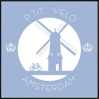 Amsterdam bleu -Bild mit Kunststoffrahmen