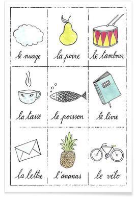 Petit cours de français 1 - Premium Poster