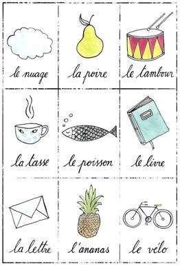 Petit cours de français 1 tableau en verre