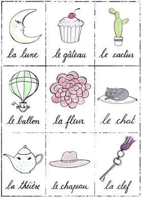 Petit cours de français 2 toile