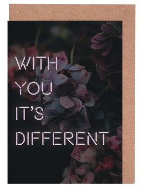 With you it's different Greeting Card Set