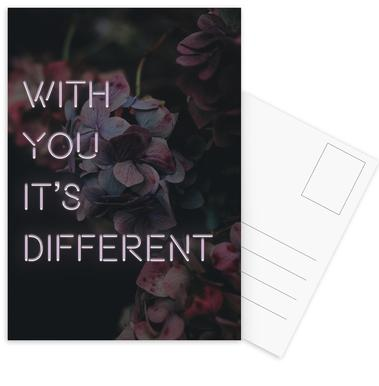 With you it's different Postcard Set