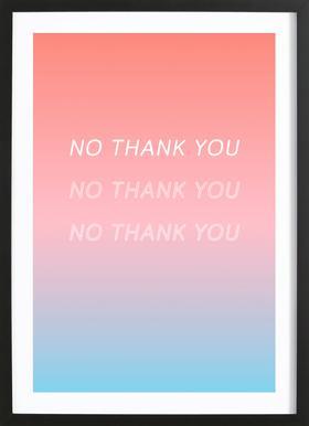 No Thank You -Bild mit Holzrahmen