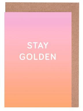 Stay Golden -Grußkarten-Set