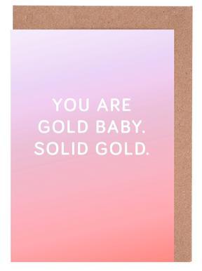 You Are Gold Baby cartes de vœux