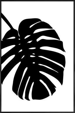 Monstera Leaf Framed Poster