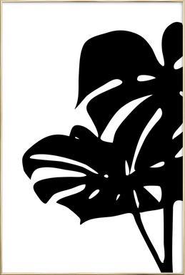 Monstera Leaf 2 Poster in Aluminium Frame