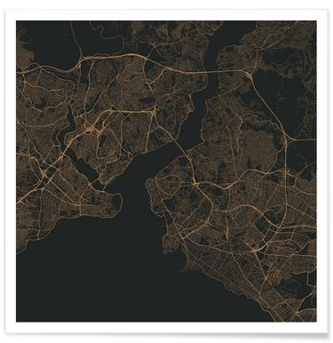 Traffic Istanbul Brown poster