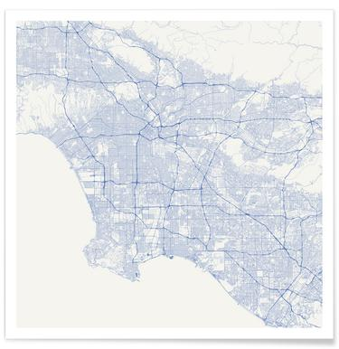 Traffic Los Angeles Blue poster