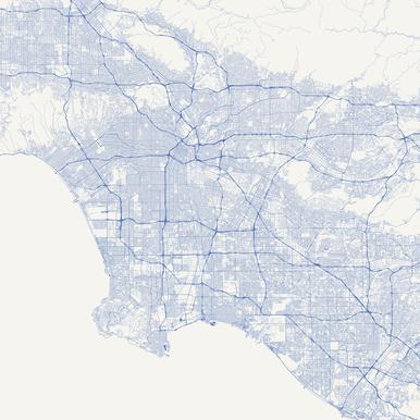 Traffic Los Angeles Blue