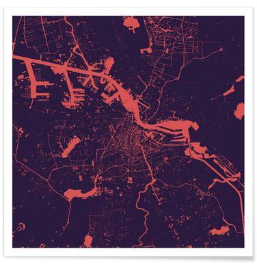 Amsterdam Purple Night poster