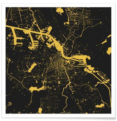 Amsterdam Yellow poster