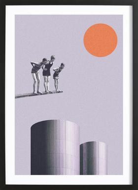 Summer Time Fun - Poster im Holzrahmen
