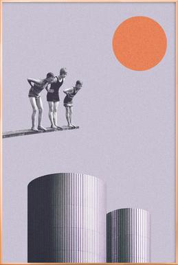 Summer Time Fun Poster in Aluminium Frame