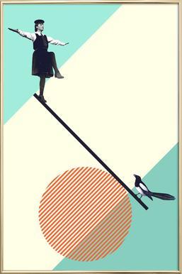 B is for Balance -Poster im Alurahmen