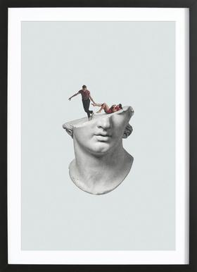 Get Out of My Head Framed Print