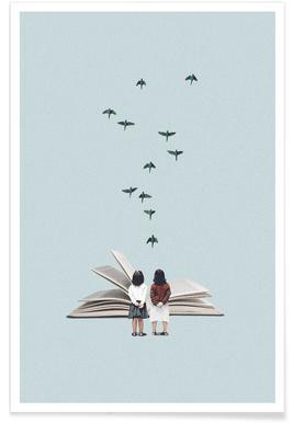 We Communicate Silently Plakat